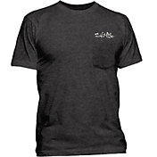 Salt Life Men's Aquaholic Flag Pocket T-Shirt