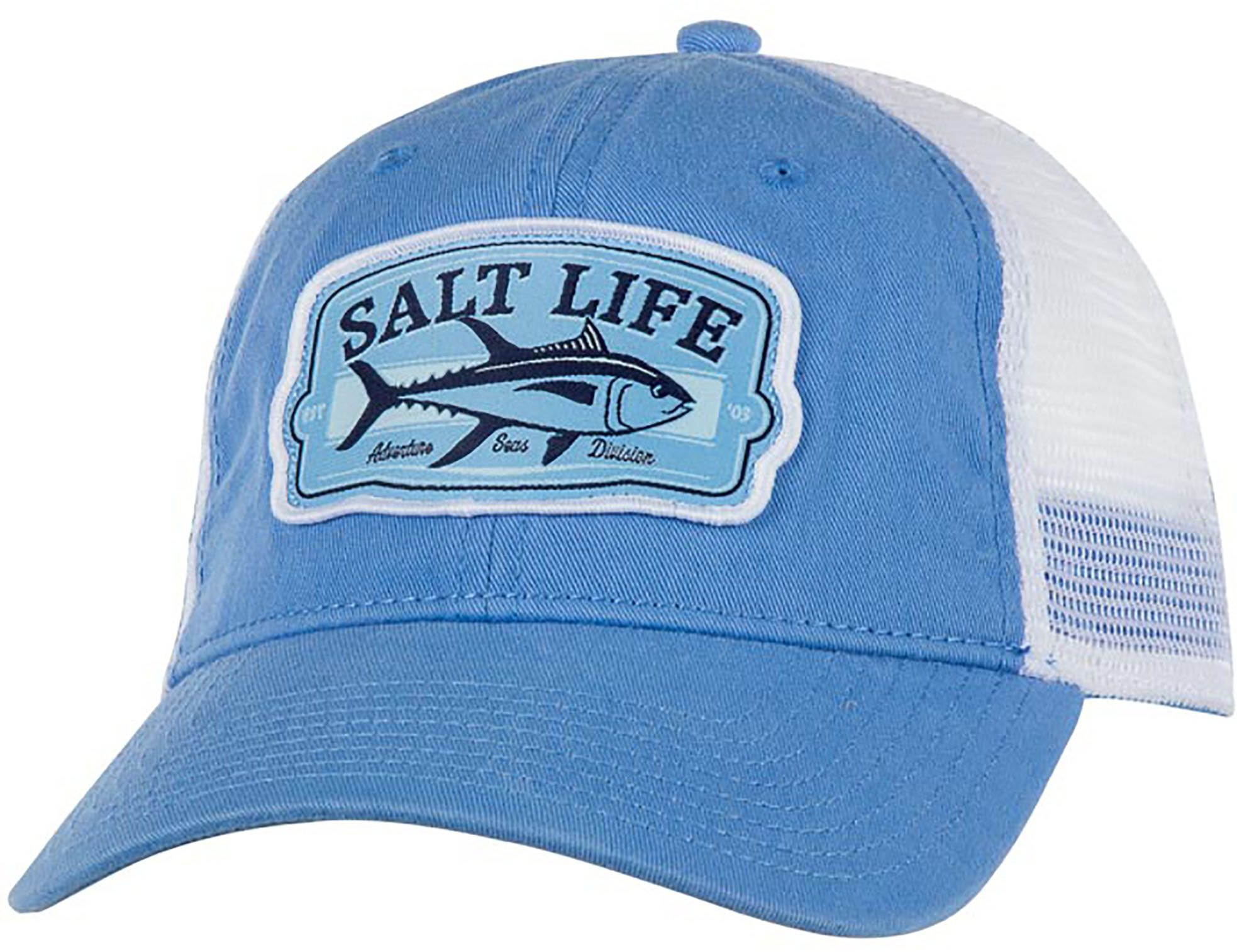 Salt Life Men's Tuna Badge Hat, Blue
