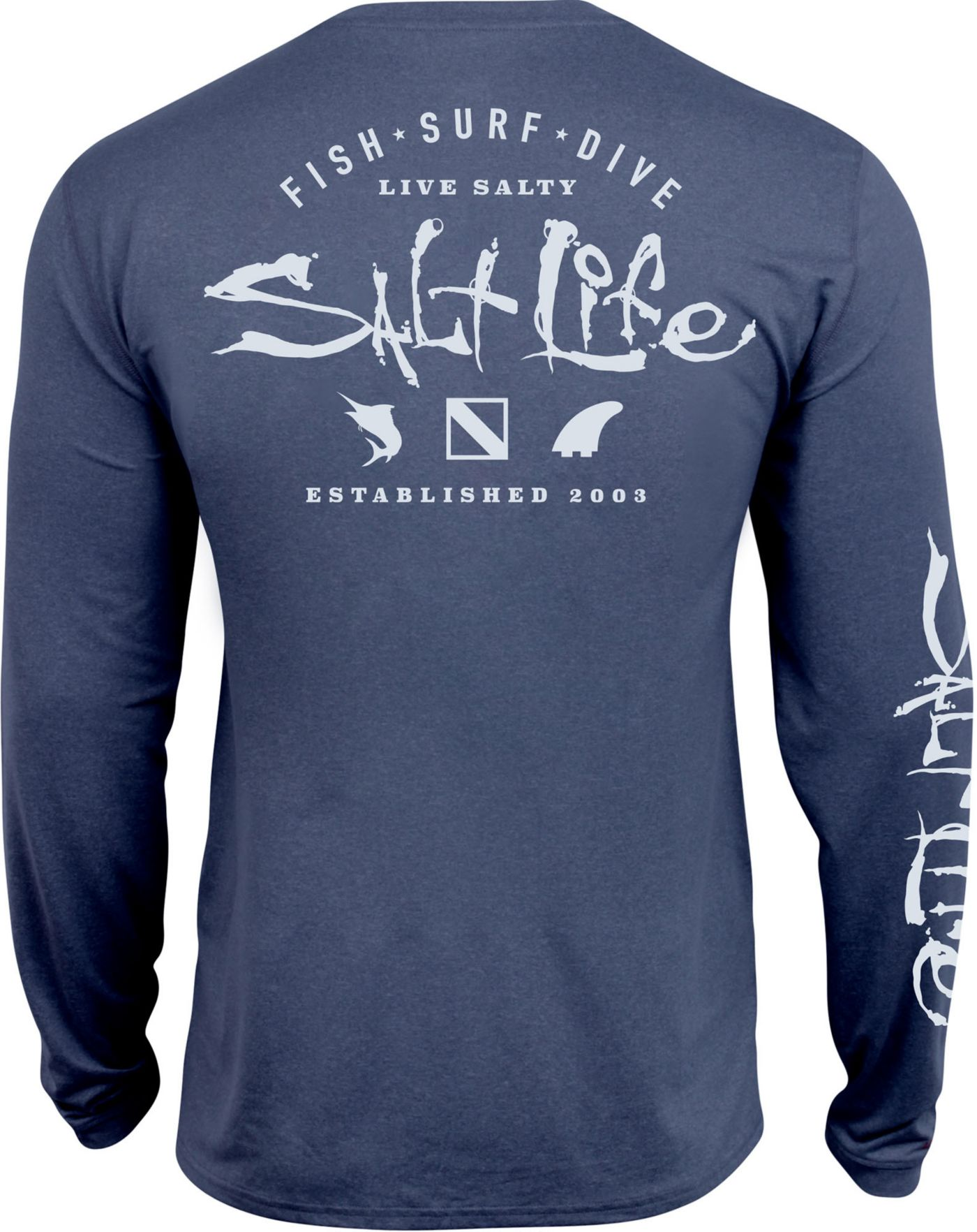 Salt Life Men's Watermans Trifecta Performance Long Sleeve Shirt