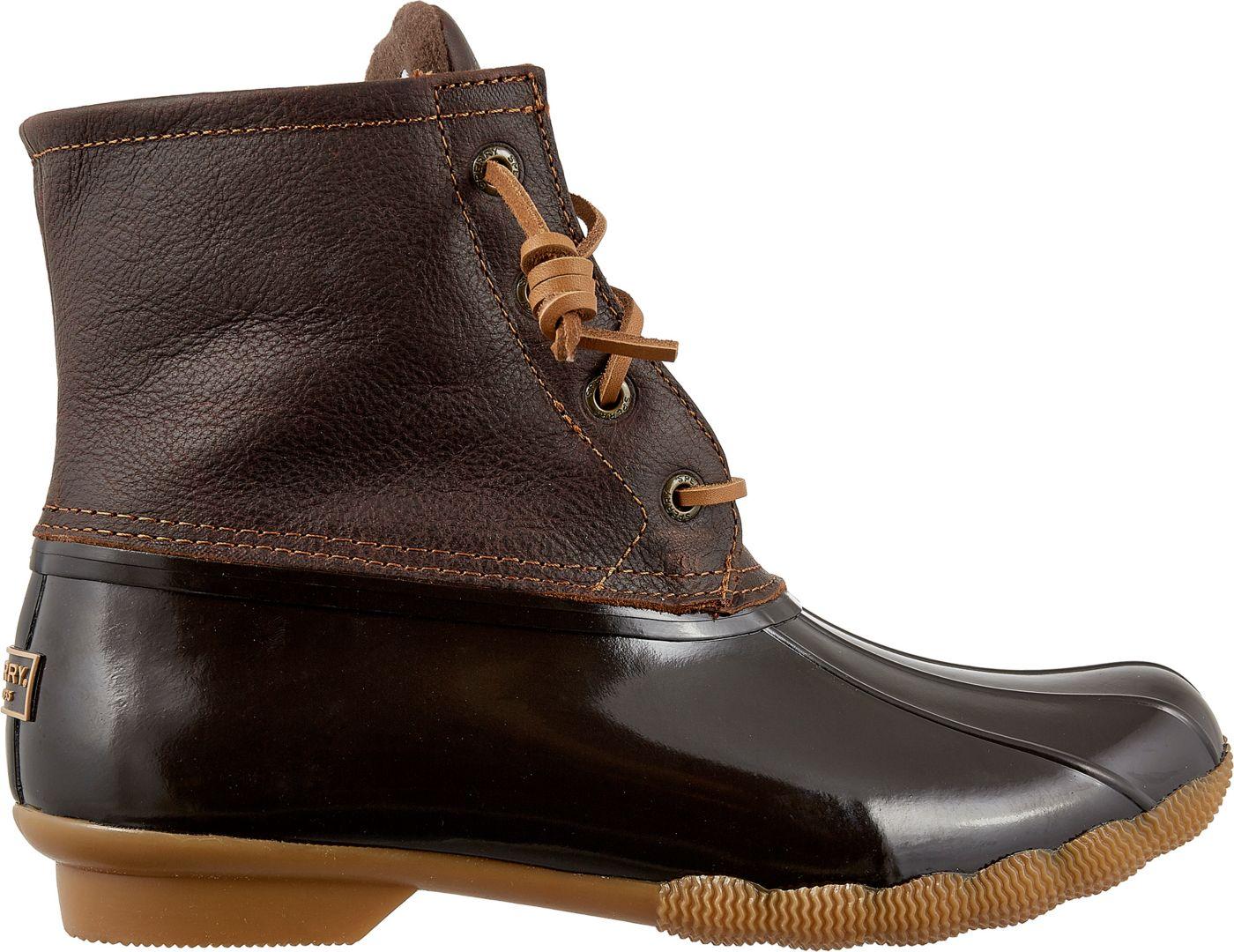 Sperry Women's Saltwater Leather Waterproof Winter Boots