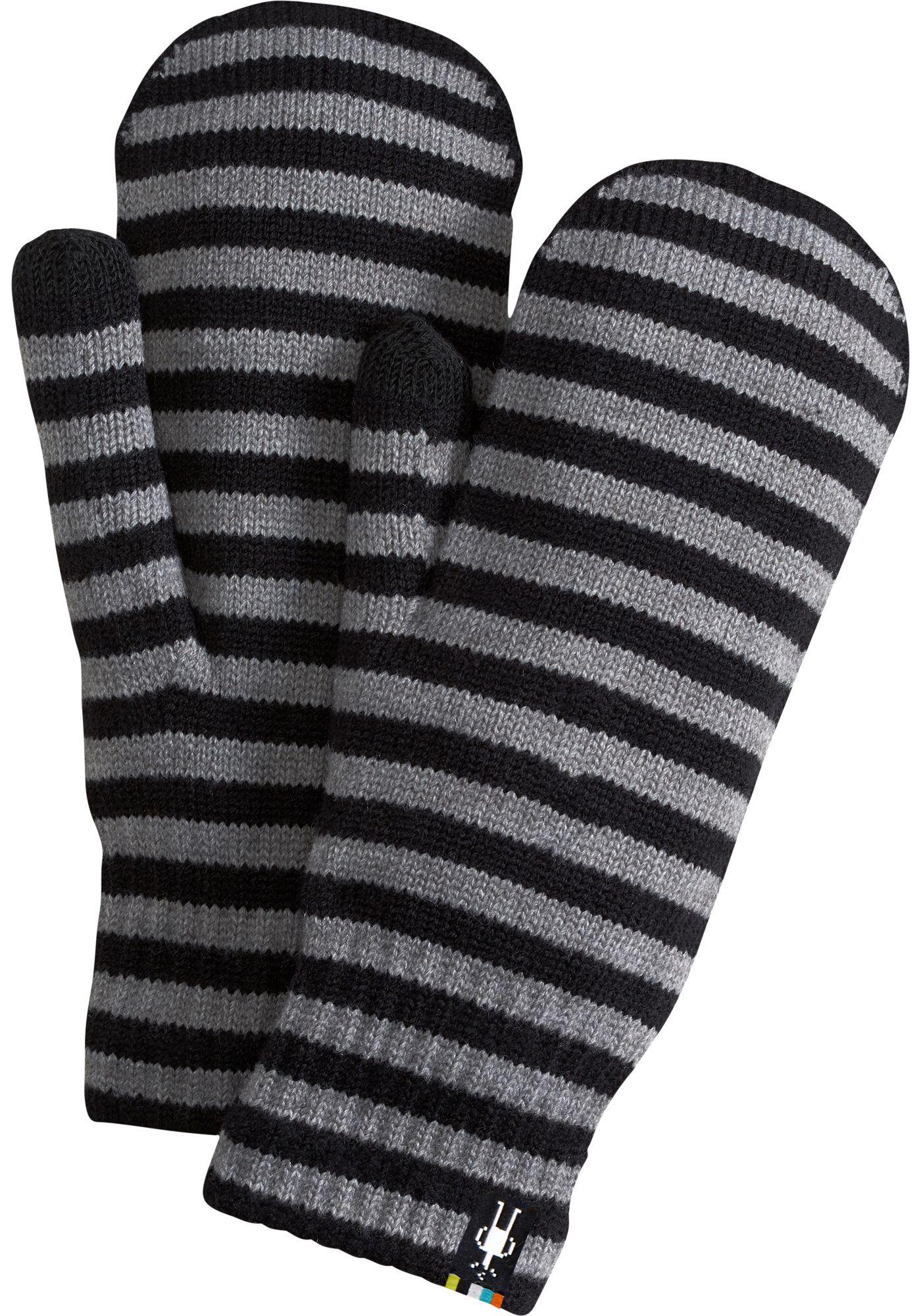 Smartwool Striped Knit Mittens