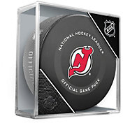 Sher-Wood New Jersey Devils Autograph Puck