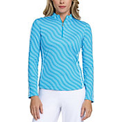 Tail Women's Extended Size Printed Mock Neck ¼-Zip Golf Pullover