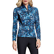 Tail Women's Cityscape ¼-Zip Mock Neck Long Sleeve Golf Top - Extended Sizes