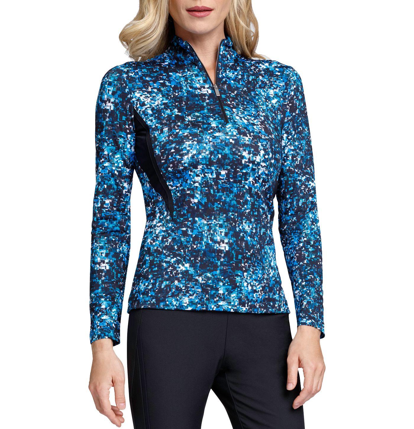 Tail Women's Long Sleeve Printed ¼ Zip Golf Top