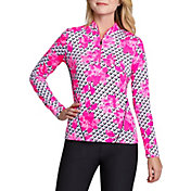 Tail Women's Long Sleeve Mini Mock Golf Top