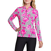 Tail Women's Long Sleeve Mini Mock Golf Top – Plus Size