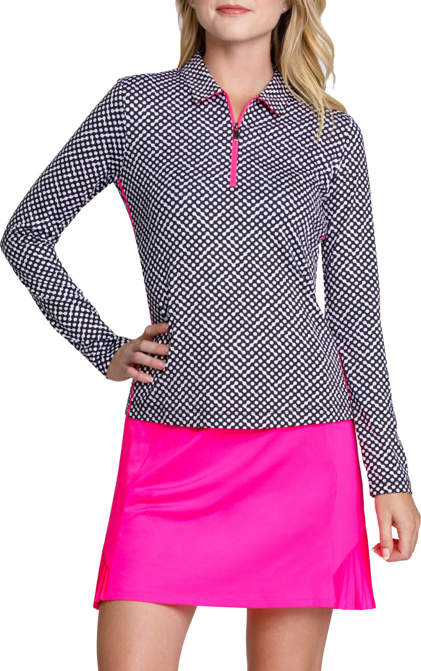 Tail Women's Polka Dot ¼ Zip Golf Top