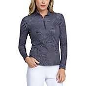 Tail Women's Extended Size Printed ¼-Zip Golf Pullover