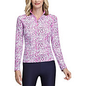 Tail Women's Mini Mock Long Sleeve Golf Pullover