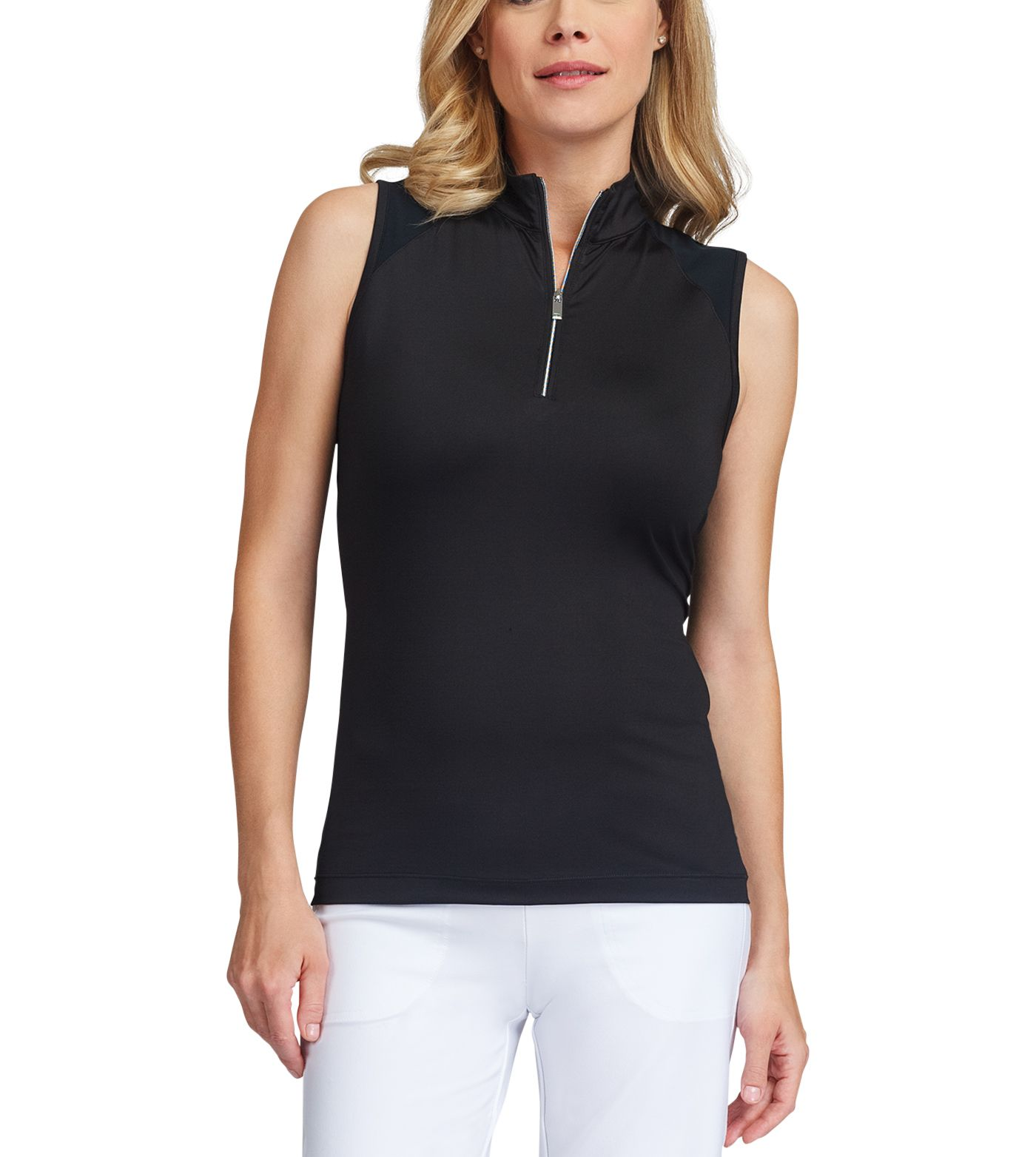 Tail Women's Sleeveless ¼-Zip Mock Neck Golf Top - Extended Sizes