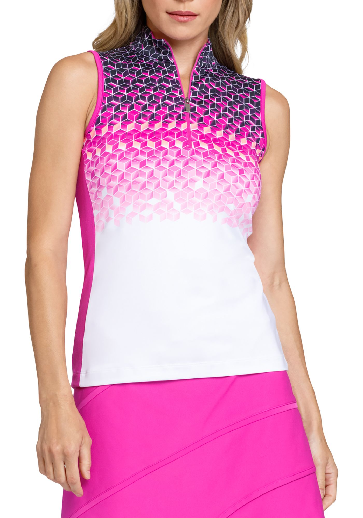 Tail Women's Cindy Cube Sleeveless Golf Polo