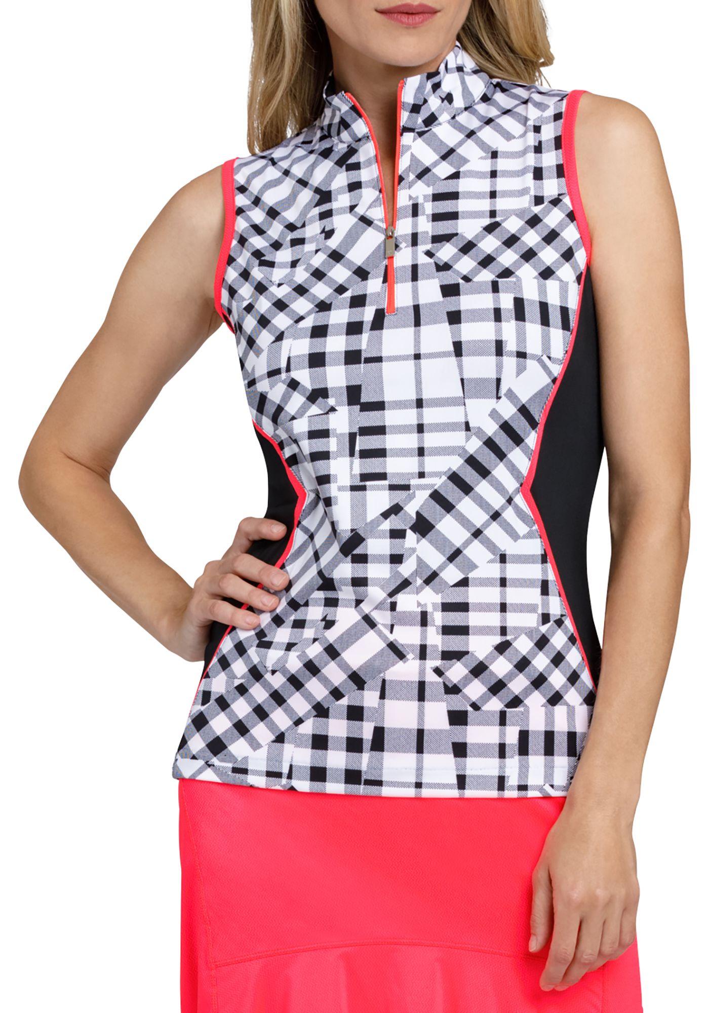 Tail Women's Gingham Sleeveless Golf Polo