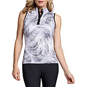 Tail Women's Mock Neck Sleeveless Racerback Golf Top