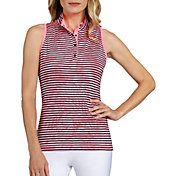 Tail Women's Sleeveless Racerback Mock Neck Golf Polo
