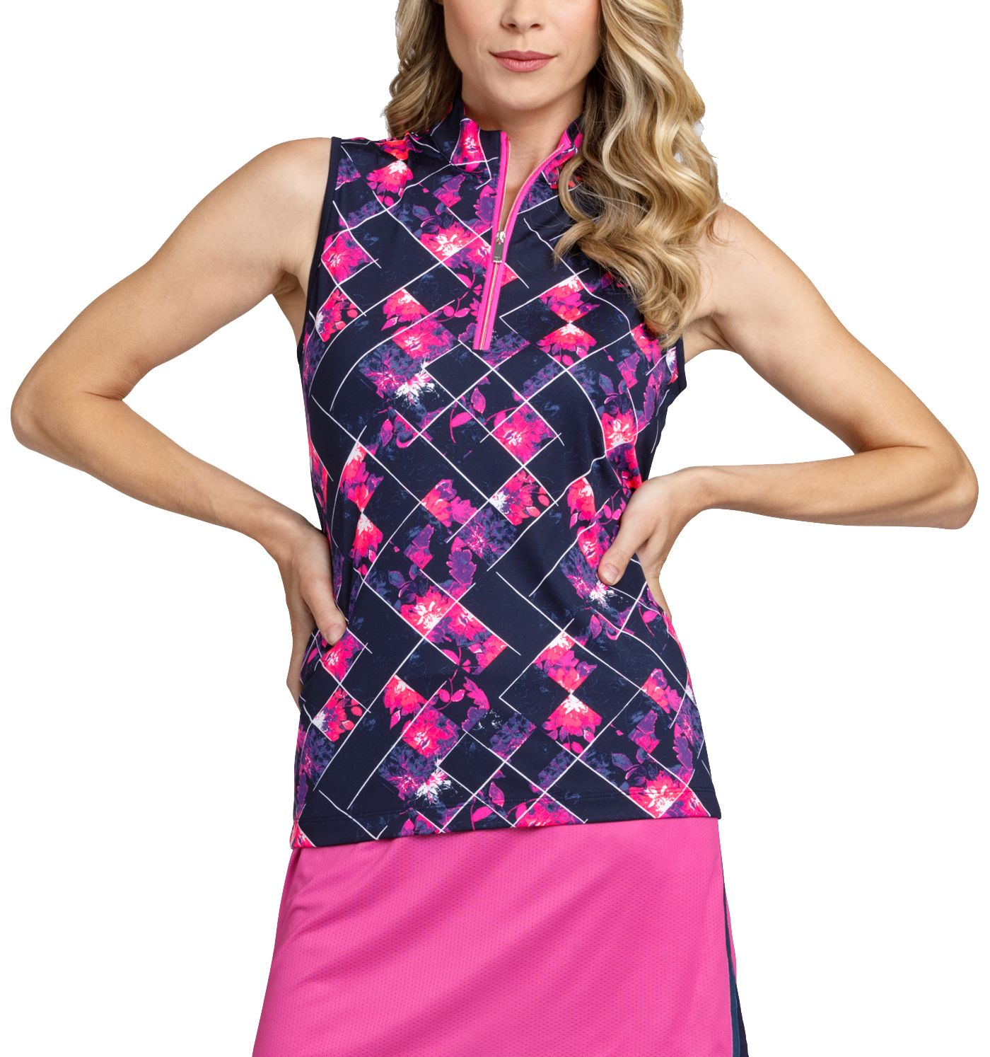 Tail Women's Sleeveless ¼ Zip Mock Neck Golf Top - Extended Sizes