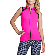 Tail Women's Sleeveless Mini Mock Golf Top