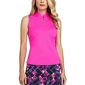 Tail Women's Sleeveless Mini-Mock Neck Golf Top