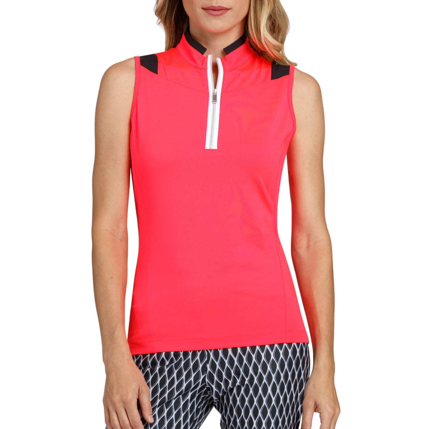 Tail Women's Sleeveless Mock Neck Golf Polo