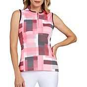 Tail Women's Sleeveless Novelty Collar Golf Polo