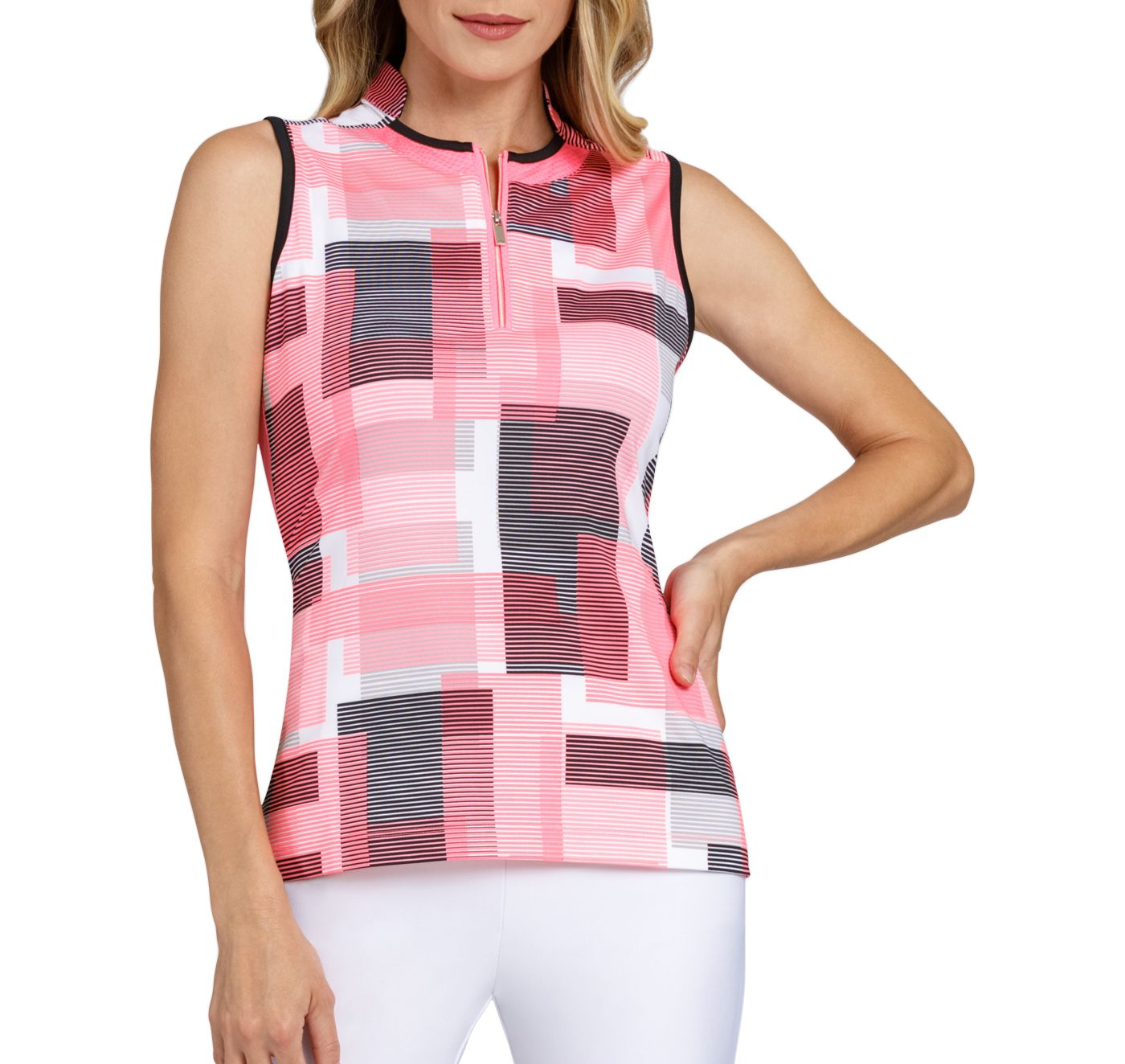 Tail Women's Sleeveless Novelty Collar Golf Polo