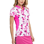 Tail Women's Short Sleeve Band Collar Golf Top