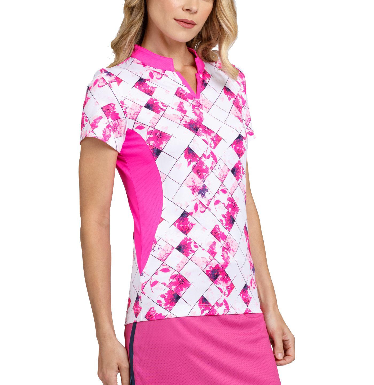 Tail Women's Short Sleeve Band Collar Golf Top
