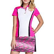 Tail Women's Short Sleeve Snap Button Golf Top