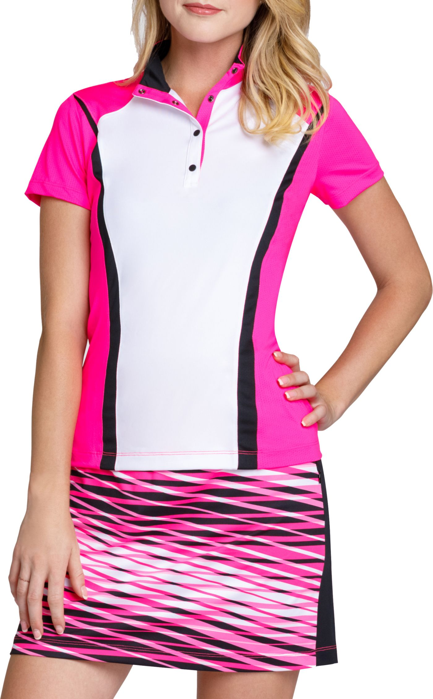 Tail Women's Short Sleeve Convertible Collar Golf Polo – Extended Sizes