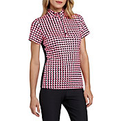 Tail Women's Short Sleeve Convertible Mock Neck Golf Polo