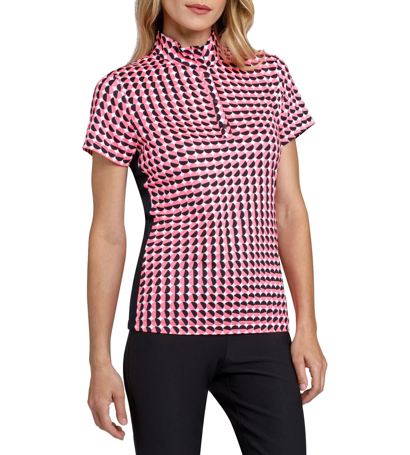 Tail Women's Short Sleeve Convertible Mock Neck Golf Polo