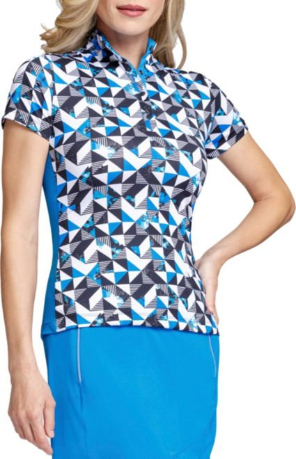 Tail Women's Short Sleeve Mock Neck Golf Top