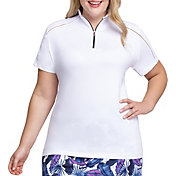 Tail Women's Funnel Neck Short Sleeve Golf Polo - Extended Sizes