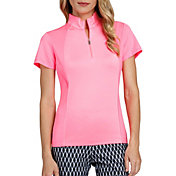 Tail Women's Short Sleeve V-Mock Neck Golf Polo
