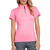 Tail Women's Short Sleeve V-Mock Neck Golf Polo – Extended Sizes