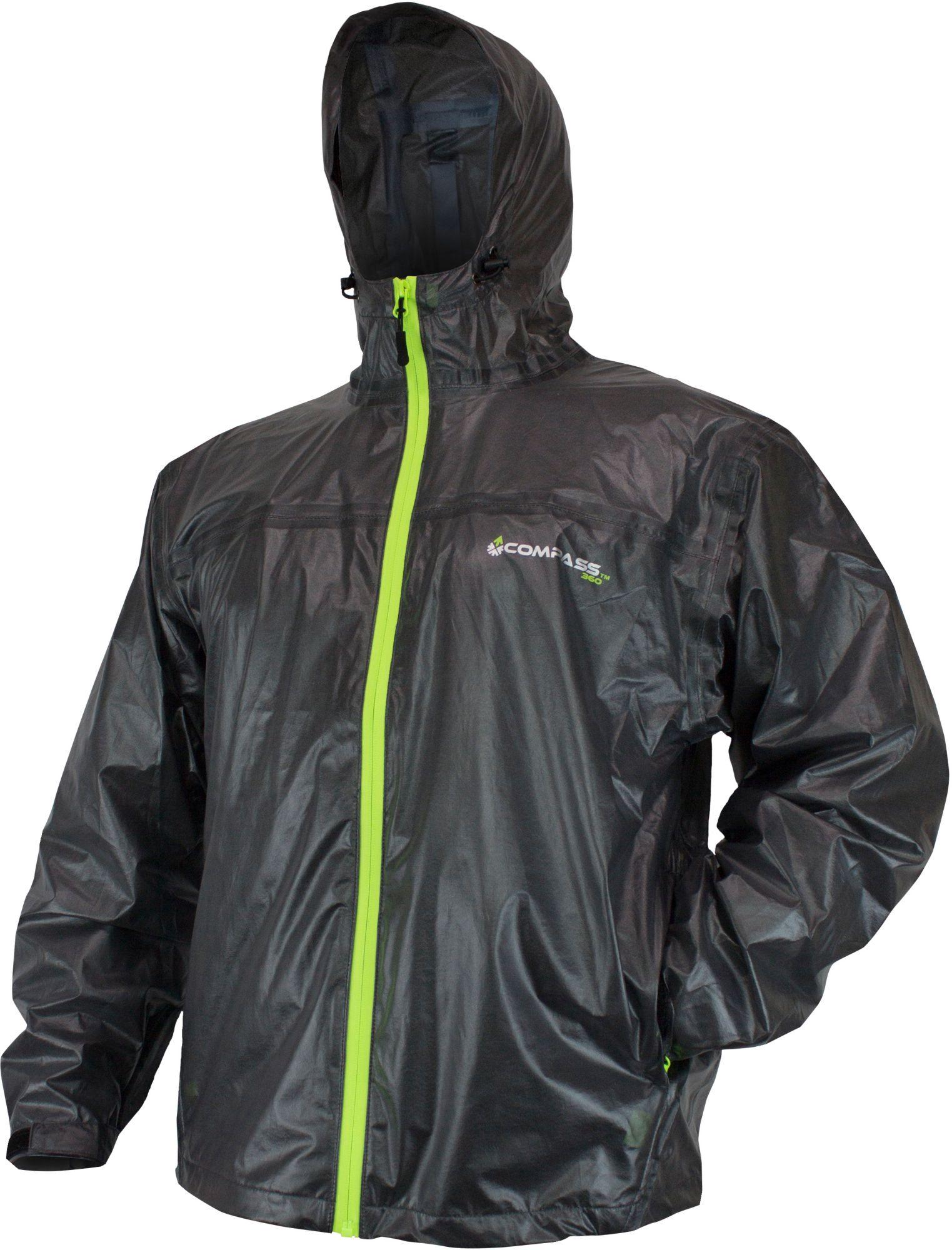 Compass 360 ULTRA-PAK Packable Rain Jacket, Men's, Medium, Black