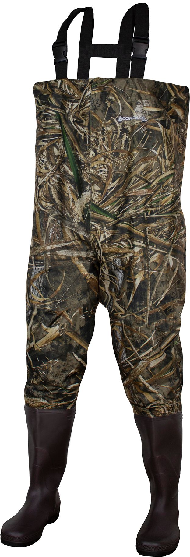 Compass 360 WINDWARD Camo PVC Bootfoot Chest Waders, Men's, Multi