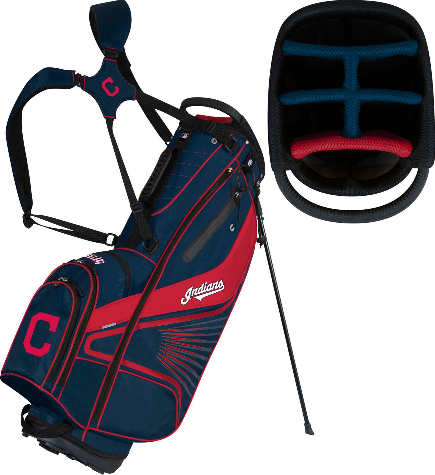 Team Effort Cleveland Indians Caddy Stand Golf Bag