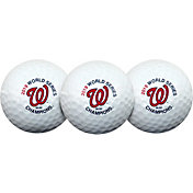 Team Effort 2019 World Series Champions Washington Nationals Golf Balls - 3 Pack