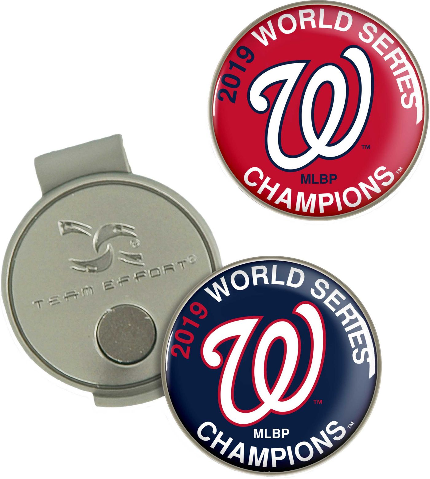 Team Effort 2019 World Series Champions Washington Nationals Hat Clip and Ball Markers Set