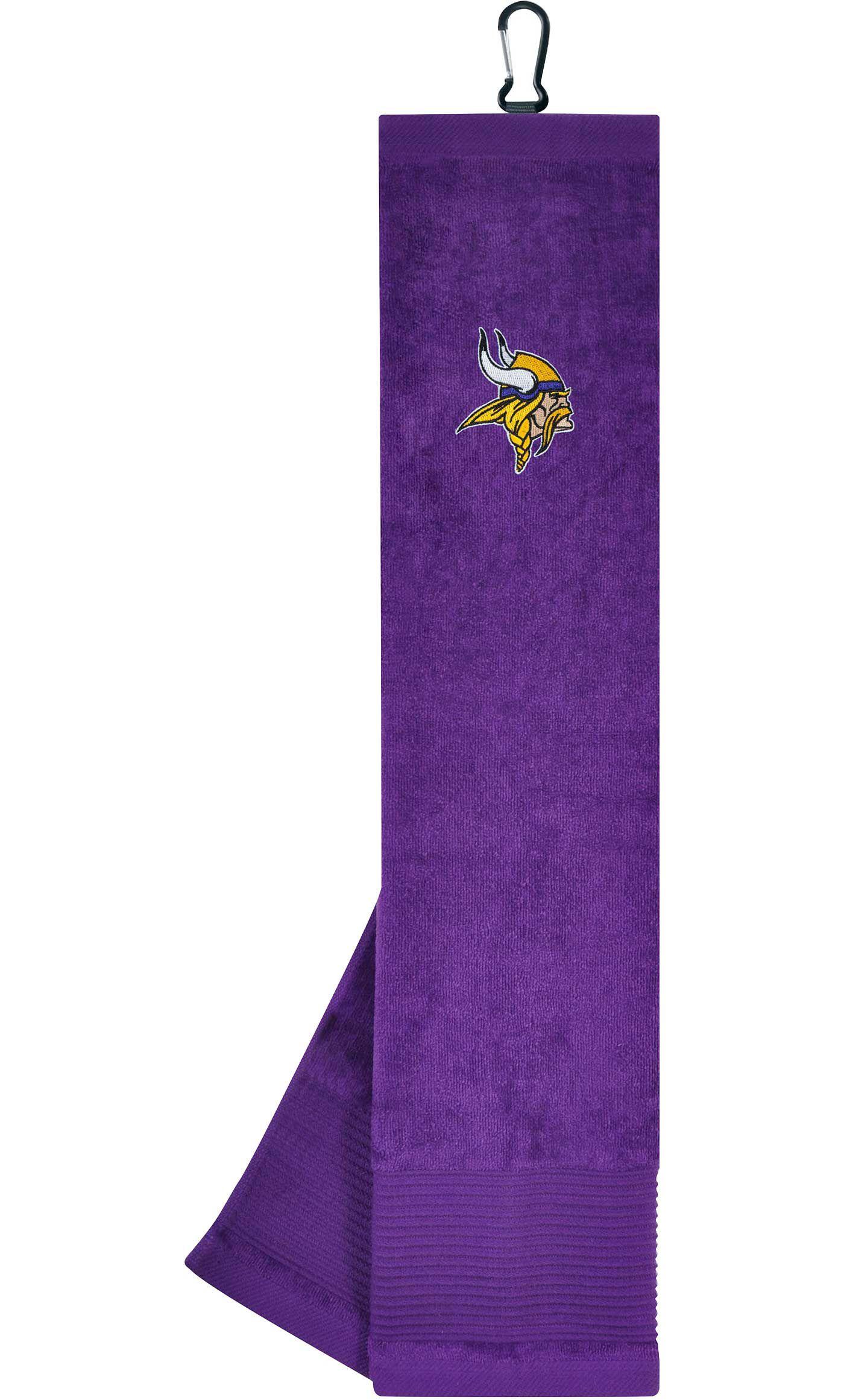 Team Effort Minnesota Vikings Embroidered Face-Club Golf Towel
