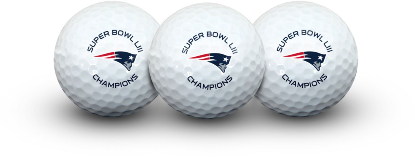 Team Effort Super Bowl LIII Champions New England Patriots Golf Balls – 3 pack