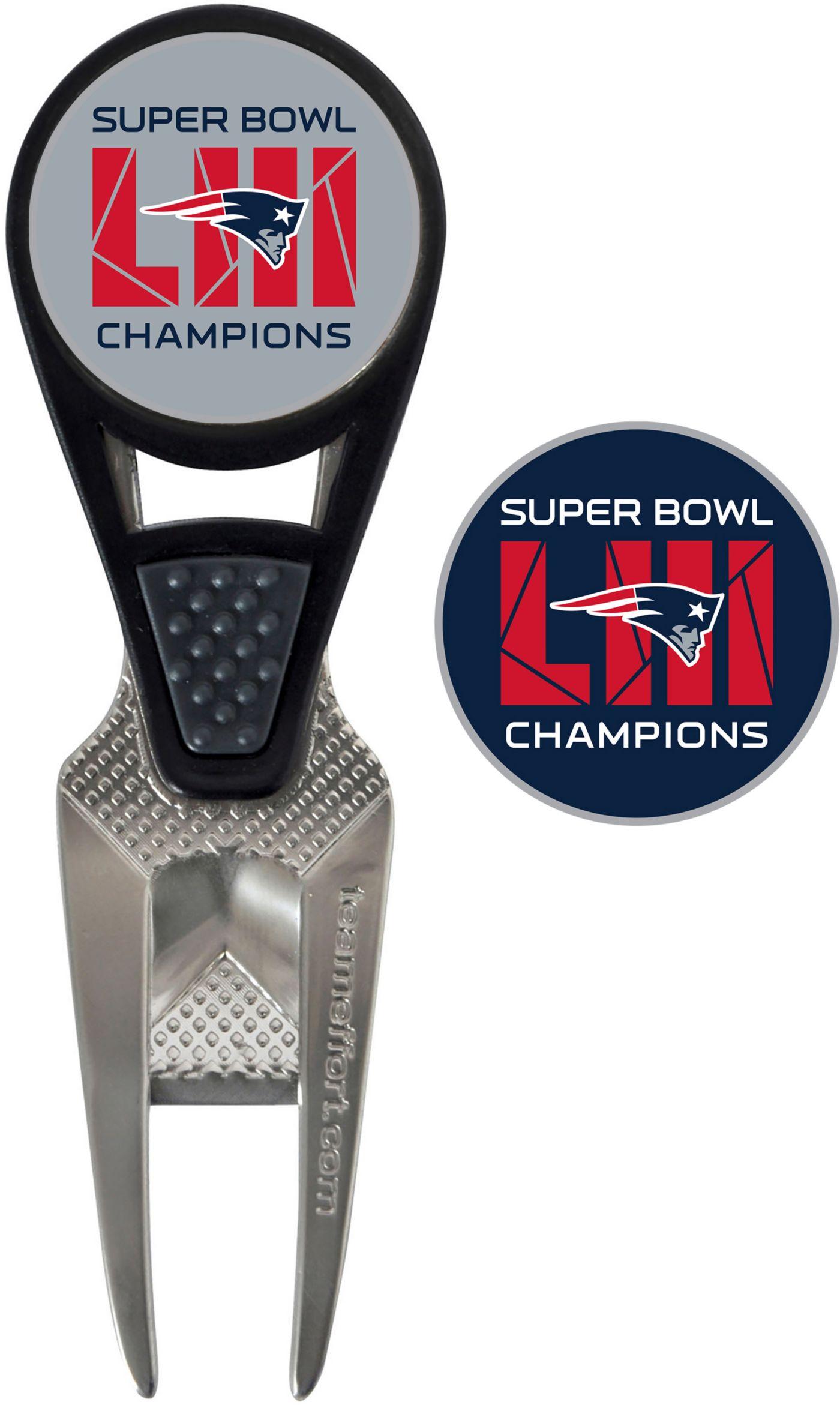 Team Effort Super Bowl LIII Champions New England Patriots CVX Divot Tool and Ball Marker Set