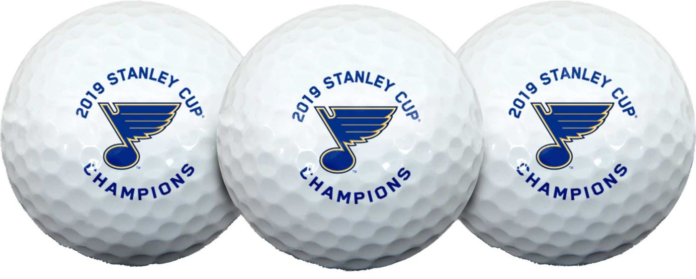 Team Effort 2019 Stanley Cup Champions St. Louis Blues Golf Balls - 3 Pack