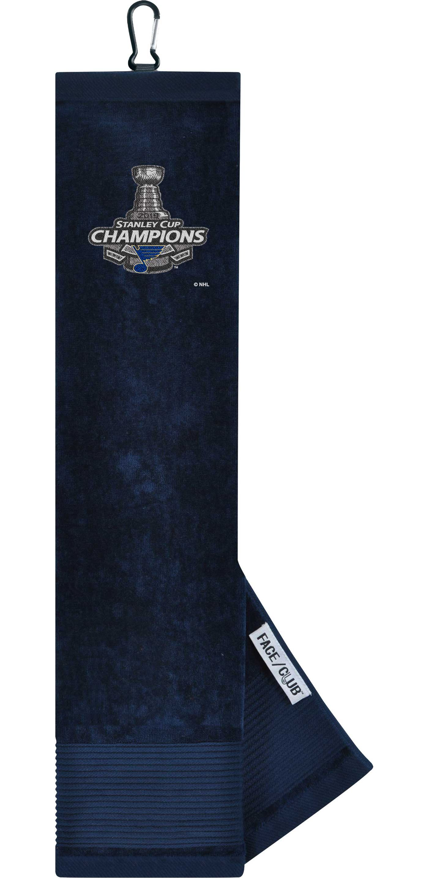 Team Effort 2019 Stanley Cup Champions St. Louis Blues Embroidered Face/Club Tri-Fold Towel