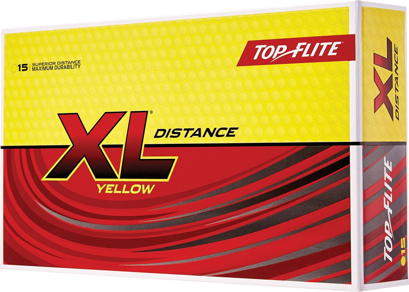 Top Flite 2019 XL Distance Yellow Personalized Golf Balls – 15 Pack