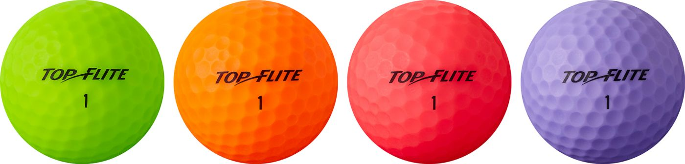 Top Flite Women's 2019 Lady Matte Multi-Color Personalized Golf Balls