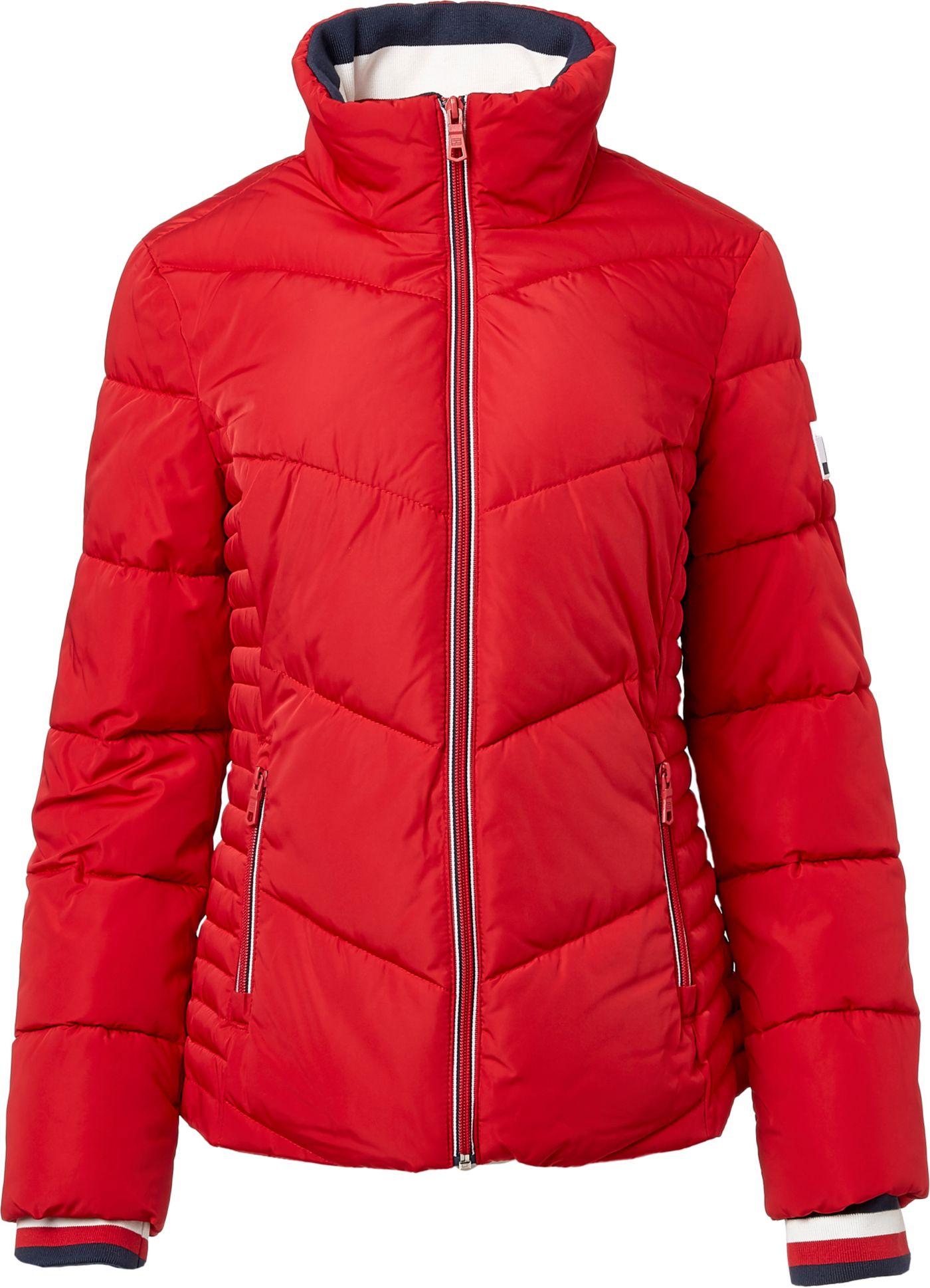 Tommy Hilfiger Women's Chevron Puffer Jacket