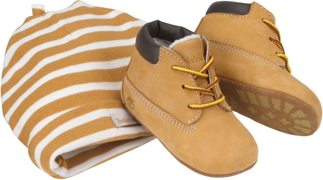 Timberland Infant Crib Booties with Hat