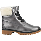 Timberland Women's Jayne 6'' Shearling Metallic Waterproof Casual Boots